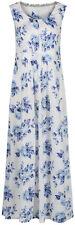Maine Debenhams White Blue Floral Jersey Maxi Midi Dress Size 10 - 18 (A11)