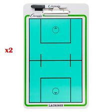 Set of 2x Champion Sports Dry-Erase Double Sided Coaches Clipboard