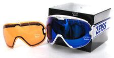 MASCHERA DA SCI-SNOWBOARD ZEISS mod.INTERCHANGEABLE WHITE ML BLUE + ORANGE SONAR