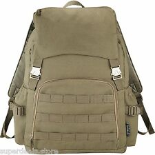 "Field & Co Scout Vintage Military Style 15.6"" Laptop Computer Backpack - Green"