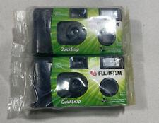 2 NIP Fujifilm Disposable Single-Use 35mm Camera With Flash Quick Snap