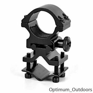 Rifle Gun Barrel Mounted Flashlight / Laser Clamp Holder Mount 25.4mm Ring UK