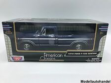 FORD f-150 Custom Blu Scuro 1979 - 1:24 Motormax