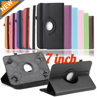 LOT Universal 360° Folio Leather Stand Case Cover For 7 inch Android Tablet PC