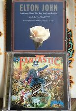 """Elton John 2CD Lot """"Captain Fantastic"""" +"""" Candle in the Wind 1997"""" Used Like New"""