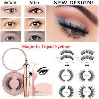 NEW Magnetic liquid Eyeliner + Magnetic False Eyelashes Easy to Wear Lashes Set