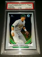 2014 Bowman Chrome #BCP36- Daniel Robertson Rookie Card! PSA MINT 9