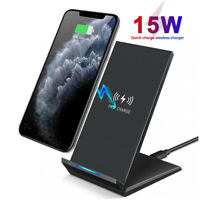 15W Qi Wireless Charger Stand Fast Charging Station For iPhone 11 Pro Max Xs X 8