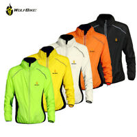 Mens Cycling Jacket Reflective Running Top Wind Coat Windproof Breathable Jersey