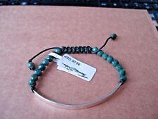 THOMAS SABO Sterling Silver LOVE BRIDGE Bracelet - Green Heliotrope Beads