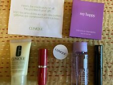 NEW CLINIQUE COSMETIC ZIP BAG INCLUDING 6 NEW UNOPENED ITEMS!