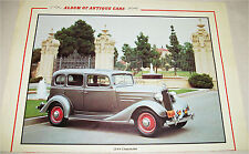 1934 Chevrolet 4 dr sedan car print  (silver)