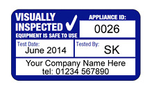 1040x Fully Personalised Visual Inspection PAT Test Labels ( Custom PAT Labels )