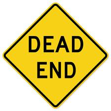 "Dead End Road Sign Room Decor bumper sticker decal 4"" x 4"""