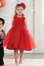New Mud Pie Red Rosette Party Dress Christmas Holiday Valentines 0-6 months gift