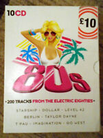 Electric 80s (200 Tracks) - 10-CD Music Set - Rare - Good Condition