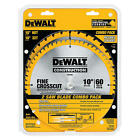 NEW Dewalt Saw Blade 60-Tooth and 32-Tooth 10-Inch Saw Blades #DW3106P5