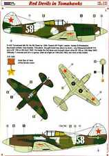 AML Models Decals 1/72 RED DEVILS IN TOMAHAWKS Russian P-40 Fighters