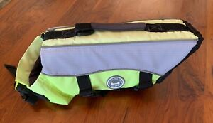 Vivaglory Dog Life Jacket with Safety Handle YELLOW Preowned