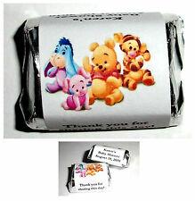 120 BABY WINNIE THE POOH BABY SHOWER CANDY WRAPPERS