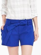 NEW Banana Republic Womens Scallop Walking Shorts Tie Cobalt White 4 10 12 $58