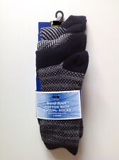 MARKS AND SPENCER Mens Cotton Rich Casual Socks Navy 4 Pairs SIZE UK 10-12