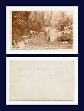 CANAL ZONE FT CLAYTON US ARMY MANEUVERS REGIMENTAL SUPPLY DUMP  REAL PHOTO 1936