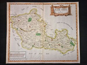1695 ORIGINAL MAP Berkshire BARK SHIRE Robert Morden HAND COLOURING Engraved