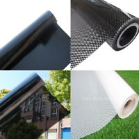 TOTAL BLACKOUT Window Film Mirrored Privacy Glass Solar Tint Self Adhesive