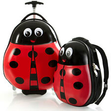 Heys America Travel Tots Kids 2 Piece Luggage & Backpack Set - Ladybug