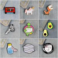 Pin Brooches Cute Little Fox Backpack Badges Hard enamel lapel Hat Bag Mini