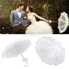 White Lace Parasol Sun Umbrella for Bridal Wedding Party Decor