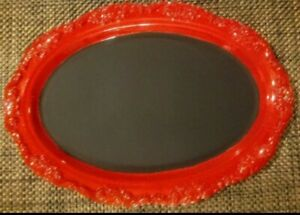 "Chalkboard Metal Tray Red 15.5"" x 11"""
