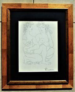 """Pablo Picasso """" Junges Paar, der Mann mit Tambourin """" SUITE VOLLART handsigniert"""