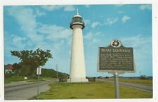 Biloxi Lighthouse Mississippi Old Postcard USA 405a ^