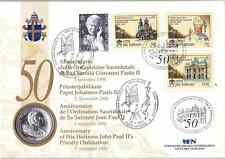 VATICANO 1996 NUMICOVER CON 500 LIRE IN ARGENTO 50° ANNIVERSARIO SACERDOTALE