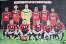 "MANCHESTER UNITED ""2009/2010 TEAM ON THE PITCH"" POSTER- Premier League Football"