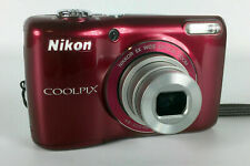Nikon COOLPIX L26 16.1 MP with 5x Zoom NIKKOR Glass Lens and 3-inch LCD (Red)