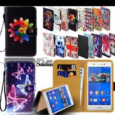 For Sony Xperia Z 1/2/3/4/5 Phones - Leather Wallet Card Stand Flip Case Cover
