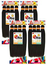 "4 Packs EZ BRAID 38"" Pre-Stretched & Layered 4X Braid Hair X-pression 200g"