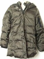 GIRLS GAP KIDS AGE 8-9 YEARS  DARK GREEN HOODED PADDED QUILTED COAT JACKET KIDS