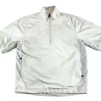Callaway Golf X Series Short Sleeve Pullover Windbreaker 1/4 Zip Silver Small