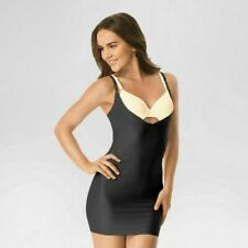 Excellent Warners Black Shaping Full Slip Size: XL WT 1130