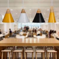 E27 Wood Pendant Ceiling Hanging Lamp Chandelier Kitchen Useful Light Fixture