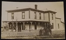 1900's - MAN WITH HORSE IN FRONT OF NICE HOUSE - REAL PHOTO - POSTCARD