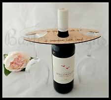 Wooden 2 3 4 Wine Glass Holder over Bottle Caddy Humour Birthday Gift Present