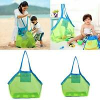 Sand Beach Bag Toy Storage Large Mesh Durable Sand Away Drawstring Backpack New