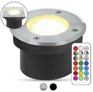 LED Bodeneinbaustrahler Außen 230V IP67 Gartenstrahler RGB Bodenstrahler Flach