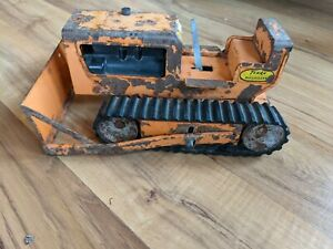 Vintage Metal Tonka Orange Bulldozer