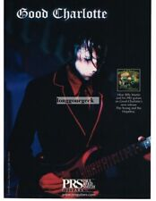 2003 PRS  Electric Guitar BILLY MARTIN of Good Charlotte Vtg Print Ad